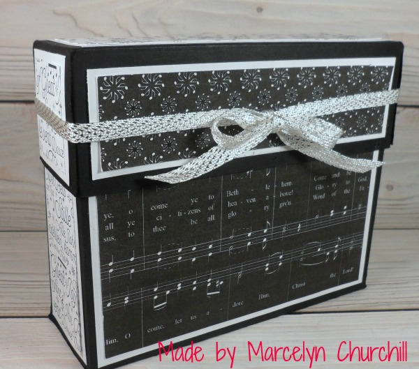 Stampin Up Stationery Box made by Marcelyn Churchill. See more projects made by Marcelyn on Mondays at www.StampingMom.com #StampingMom #cute& simple4u