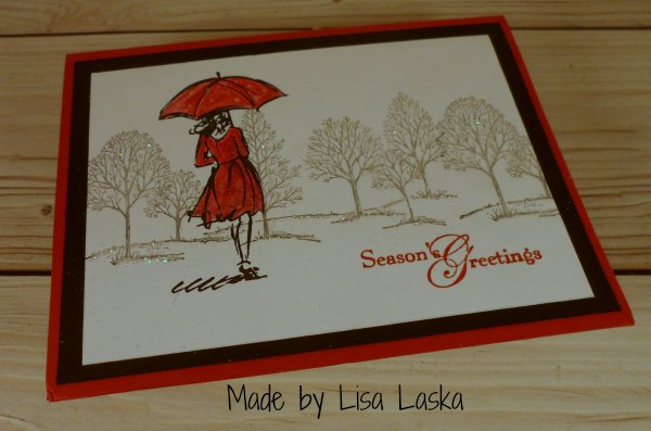 Stampin Up Christmas card made by Lisa Laska. Please see more card and gift ideas at www.StampingMom.com #StampingMom #cute&simple4u