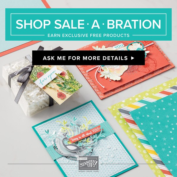 Stampin Up Sale-A-Bration Until March 31, 2018. See card and gift ideas at www.StampingMom.com #StampingMom #cute&simple4u