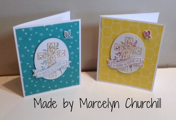 Stampin Up Hold on to Hope cards made by Marcelyn Churchill. Please see more card and gift ideas at www.StampingMom.com #StampingMom #cute&simple4u