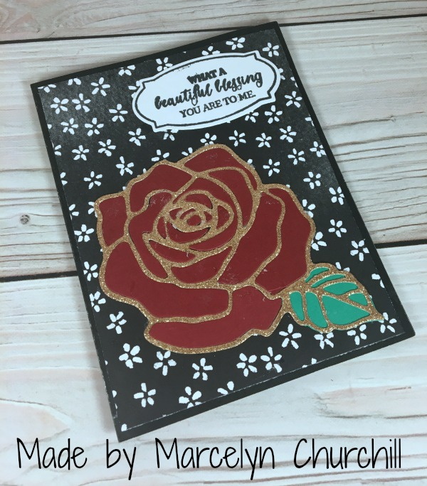 Stampin Up Rose Wonder card designed by Marcelyn Churchill. Please see more card and gift ideas at www.StampingMom.com #StampingMom #cute&simple4u