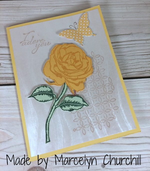 Stampin Up Grateful Garden card designed by Marcelyn Churchill. Please see more card and gift ideas at www.StampingMom.com #StampingMom #cute&simple4u
