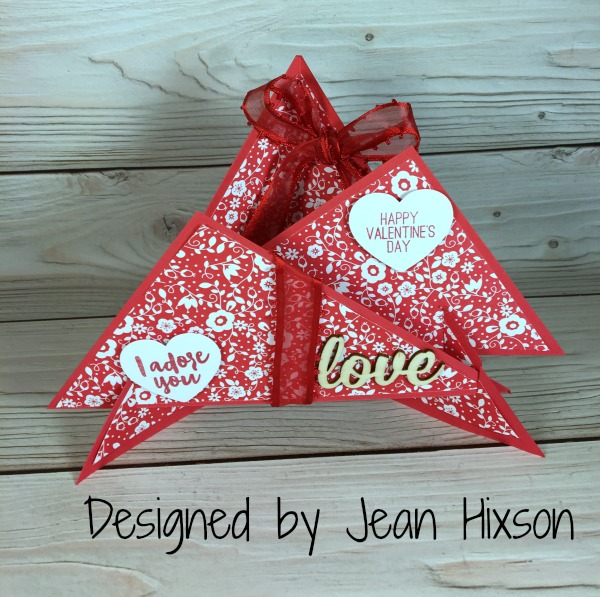 Stampin Up Valentine designed by Jean Hixson. Please see more card and gift ideas at www.StampingMom.com #StampingMom #cute&simple4u