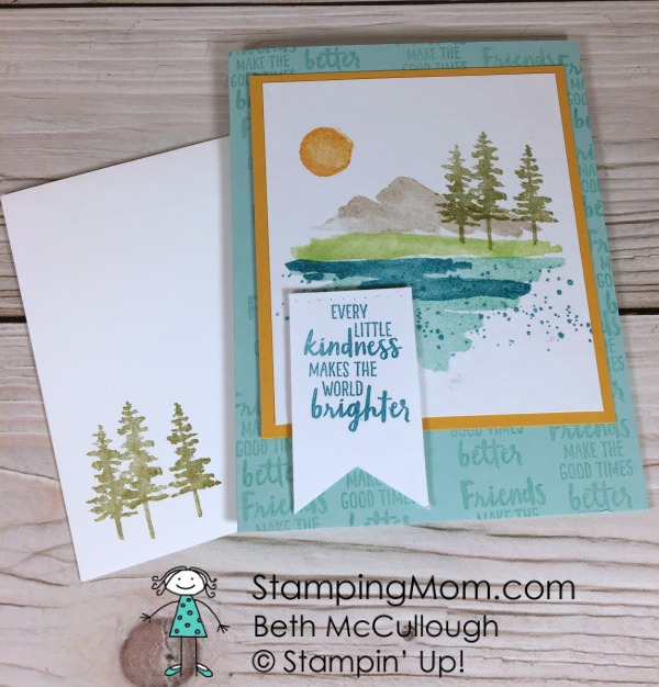 Stampin Up Waterfront card made by demo Beth McCullough. Please see more card and gift ideas at www.StampingMom #StampingMom #cute&simple4u