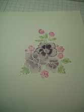 Marker to stamp/Clear embossing powder/Watercolored