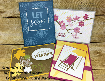 Color Theory Cards from our New Memories and More Product Line with How To Video!