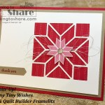 Christmas Thank You Card by Kay Kalthoff #stampingtoshare using Stampin