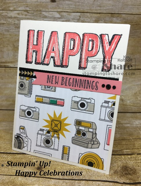 Stampin' Up! Happy Celebrations for the newly engaged, new mom, and new demonstrators! Created by Kay Kalthoff and includes How To Video Tutorial. #stampingtoshare