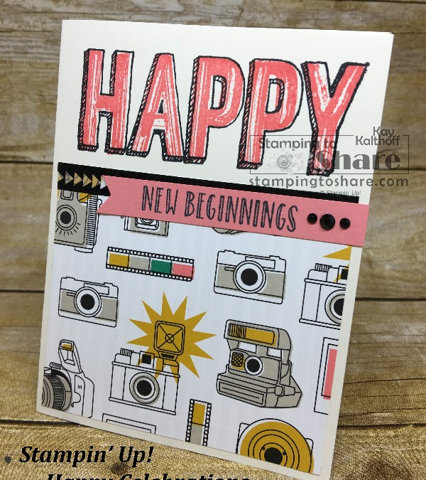 How to Create Cute Cards with Happy Celebrations from Stampin' Up! Includes Video!