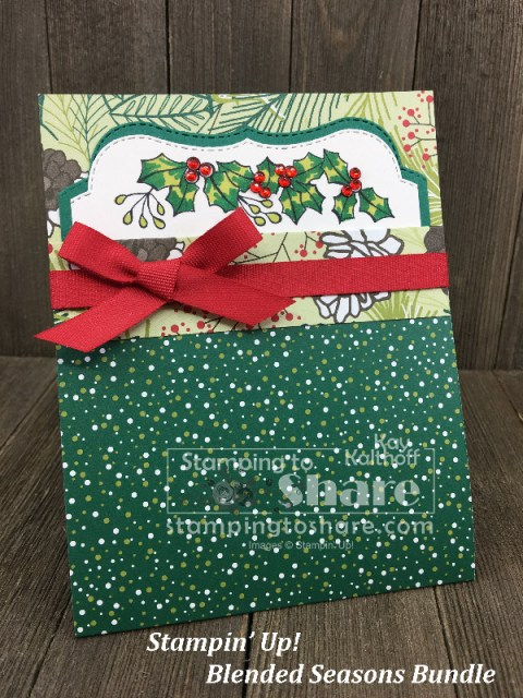 How to Create a Blended Seasons Christmas card with Kay Kalthoff for #stampingtoshare - includes Facebook Live How To Video