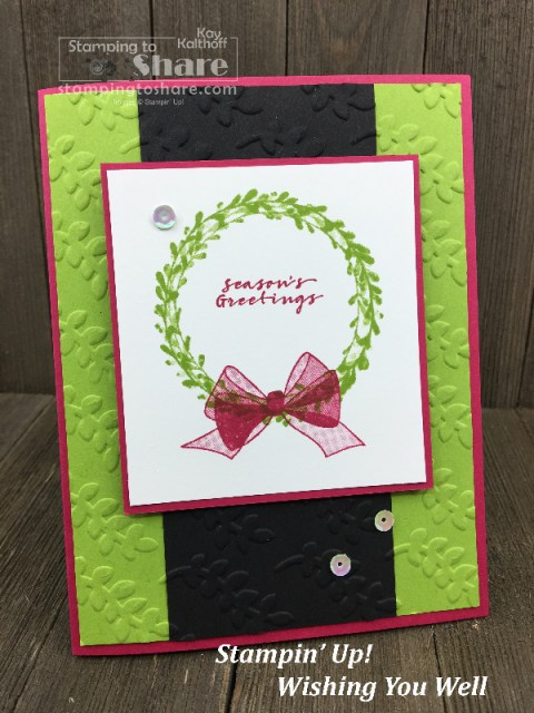 Stampin' Up! Wishing You Well card created by Kay Kalthoff for a Make It Monday FB Live