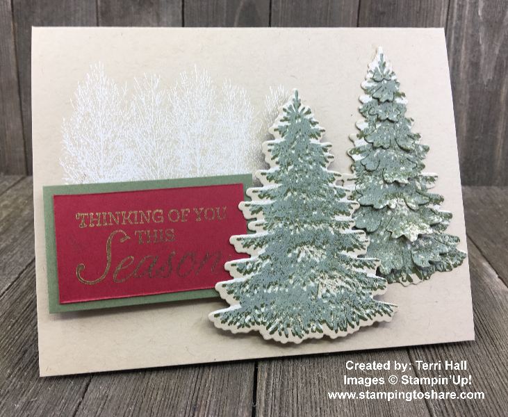 Stampin' Up! Winter Woods Bundle created by Terri Hall for Demo Meeting Swap for #stampingtoshare