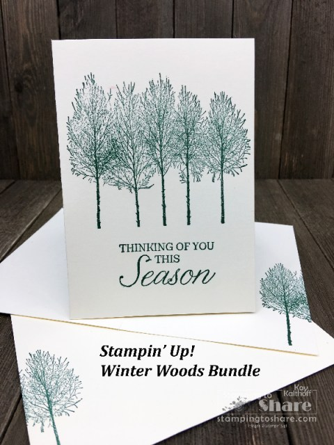 Stampin' Up! Winter Woods #simplestamping created by Kay Kalthoff for #stampingtoshare