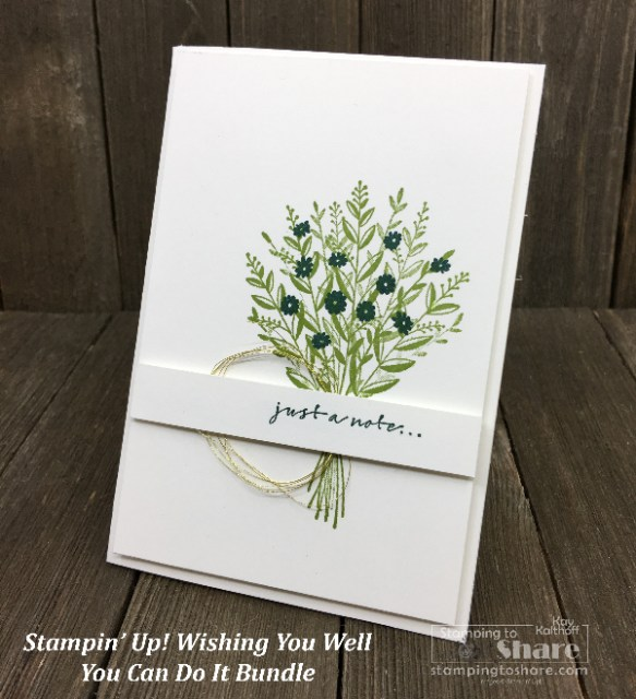 Stampin' Up! You Can Make It Wishing You Well Bundle from the 2018 Stampin' Up! Holiday Catalog created by Kay Kalthoff #stampingtoshare