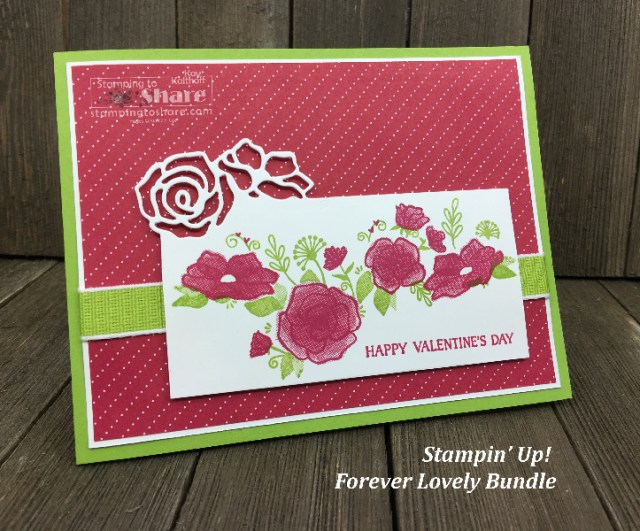 Stampin' Up! Forever Lovely Bundle Valentine by Kay Kalthoff for #stampingtoshare