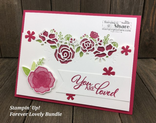 Stampin' Up! Forever Lovely Bundle created by Kay Kalthoff for #stampingtoshare #valentines
