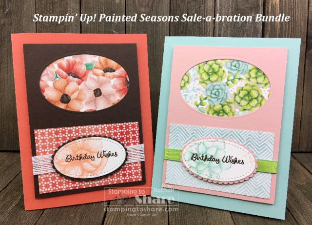 Stampin' Up! Painted Seasons Bundle with Varied Vases Sentiments created by Kay Kalthoff for #stampingtoshare