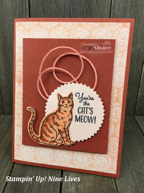 Stampin' Up! Nine Lives with Cat Punch created by Kay Kalthoff for #stampingtoshare