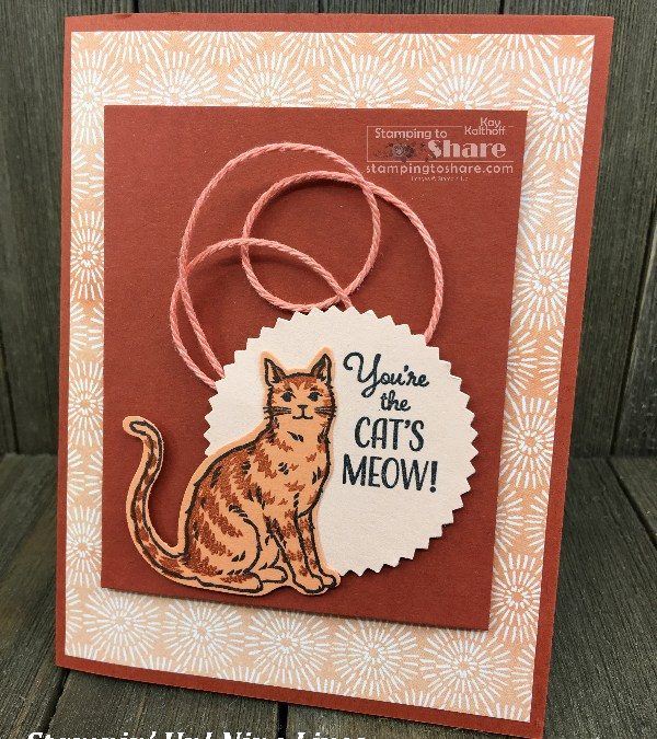 Stampin' Up! Happy Tails Bundle and Nine Lives with Cat Punch