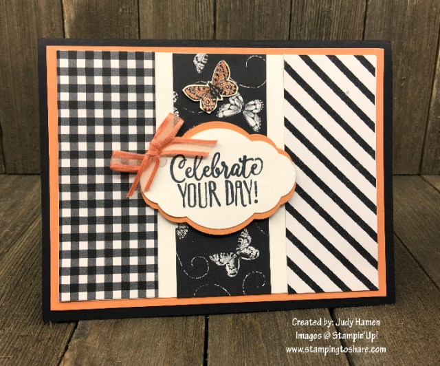 Botanical Butterfly DSP and Hello Cupcake Created by Judy Hamen for Demo Meeting Swap #stampingtoshare