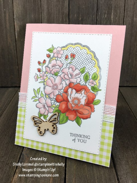 Lovely Lattice Created by Shelly Lommel for Demo Meeting Swap #stampingtoshare