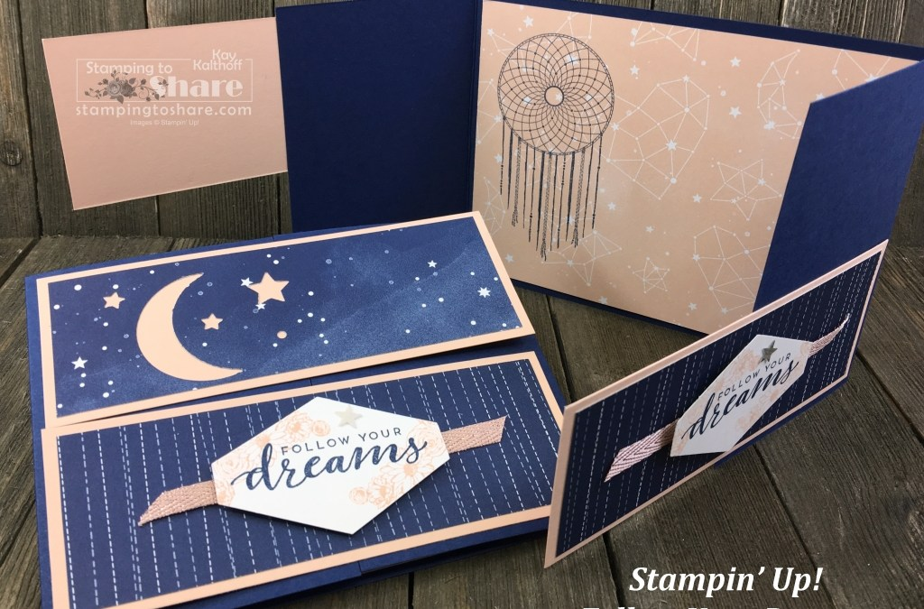 Stampin' Up! Follow Your Dreams with Twinkle Twinkle DSP and the Twinkle Builder Punch