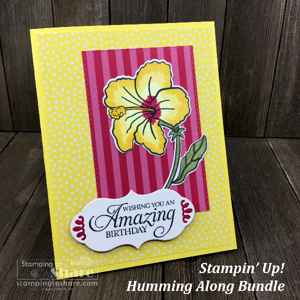 Stampin' Up! Humming Along Bundle created by Kay Kalthoff for #stampingtoshare