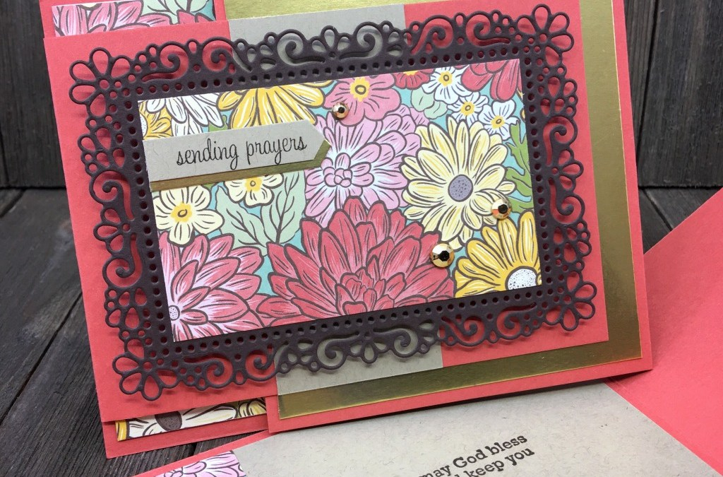 Fun and Fancy Fold with Ornate Layers Die and Ornate Garden DSP