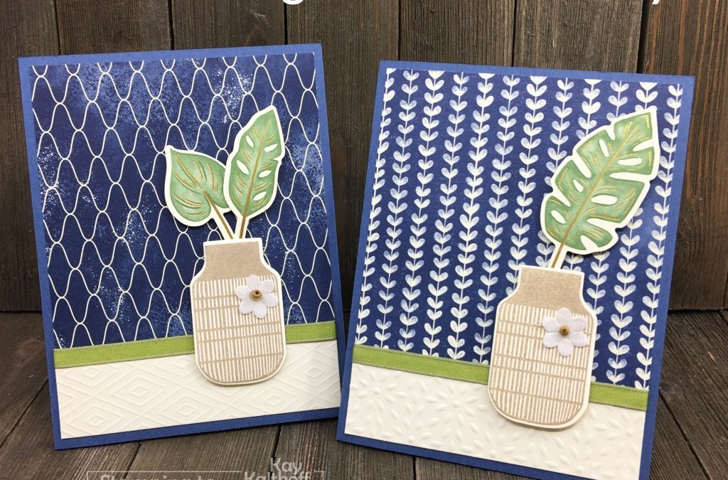 Creating Easy, Elegant Cards with Boho Indigo Product Medley