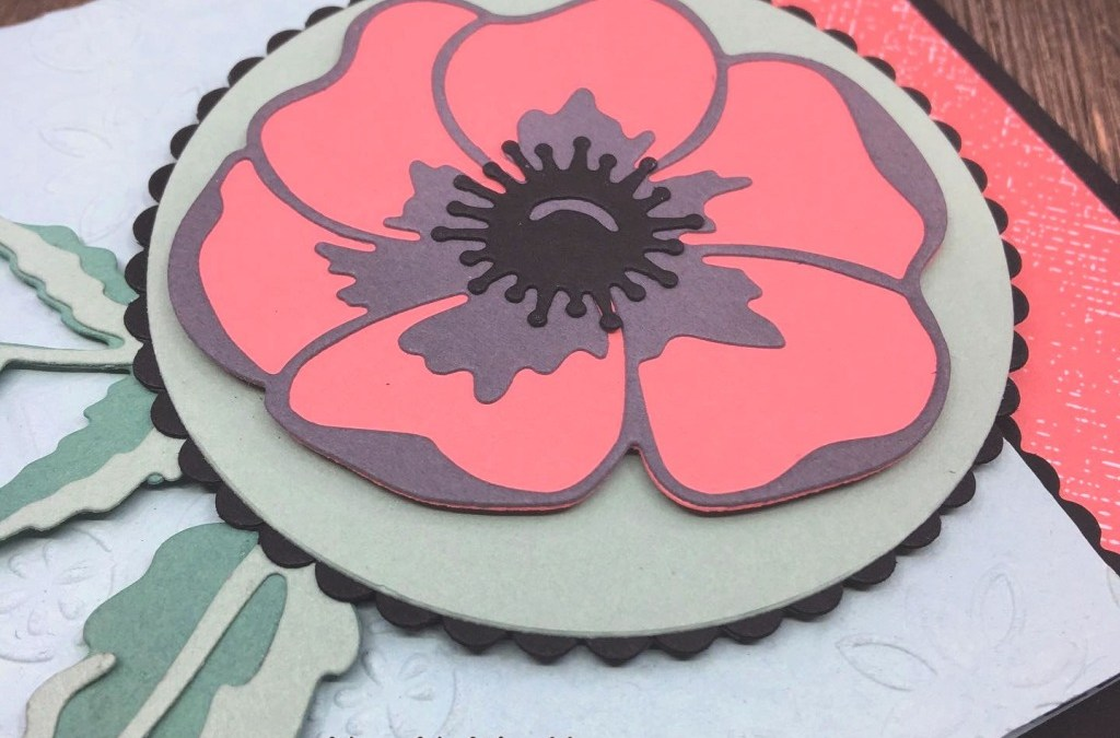 How to Make a Pretty Card with Poppy Moments Dies