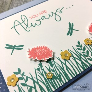 Stampin' Up! Field of Flowers Bundle for Summer Cards by Kay Kalthoff with Stamping to Share.