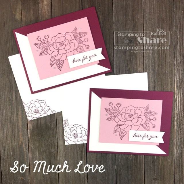 So Much Love for Easy and Elegant Card Making - this stamp set is included in the September 2020 Starter Kit at Stampin' Up!