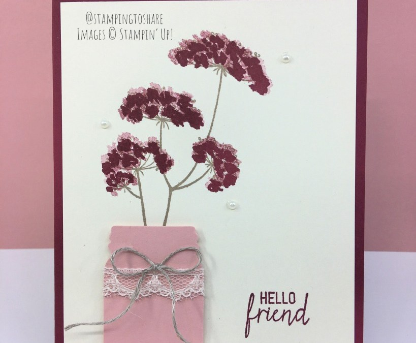Stampin' Up! Queen Anne's Lace and the Jar Punch