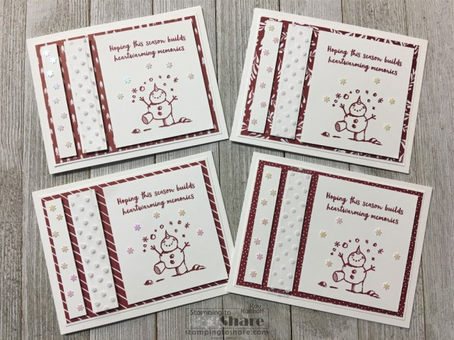 Stampin' Up! Snowman Season with Classic Christmas 6x6 DSP created by Kay Kalthoff with Stamping to Share