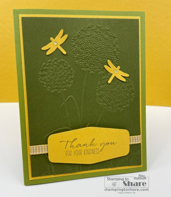Stampin' Up! Dragonfly Garden Bundle Thank You Card created by Kay Kalthoff with Stamping to Share