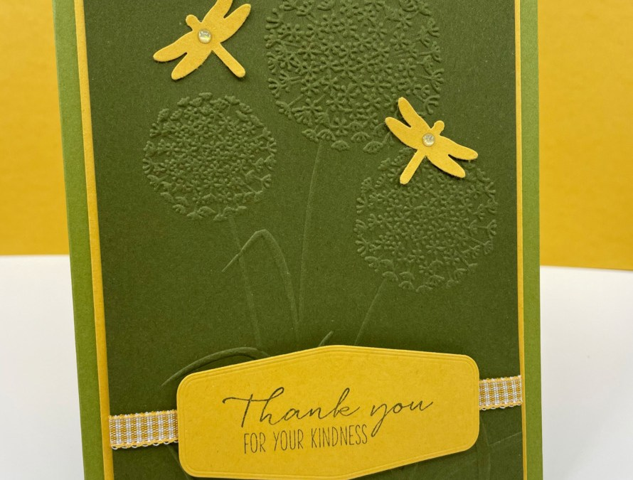 Stampin' Up! Dragonfly Garden Thank You Card