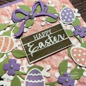 Arrange a Wreath Bundle from Stampin' Up! for Easter Cards