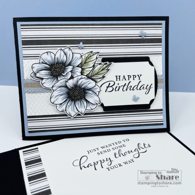 Stampin' Up! Happy Thoughts with True Love DSP created by Kay Kalthoff with Stamping to Share