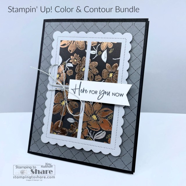 Color Contour Bundle with Simply Elegant Specialty Designer Series Paper created by Kay Kalthoff with Stamping to Share.