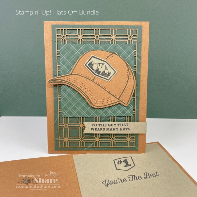 Hats Off Bundle from Stampin' Up! Cards by Kay Kalthoff with Stamping to Share.