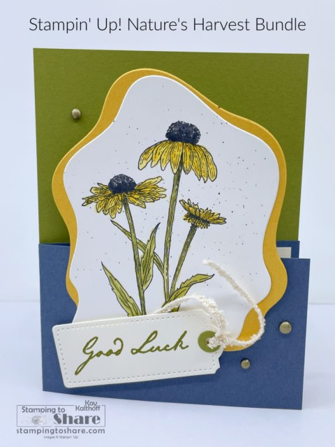 Nature's Harvest with Diorama Dies - created by Kay Kalthoff with Stampin' Up! Products