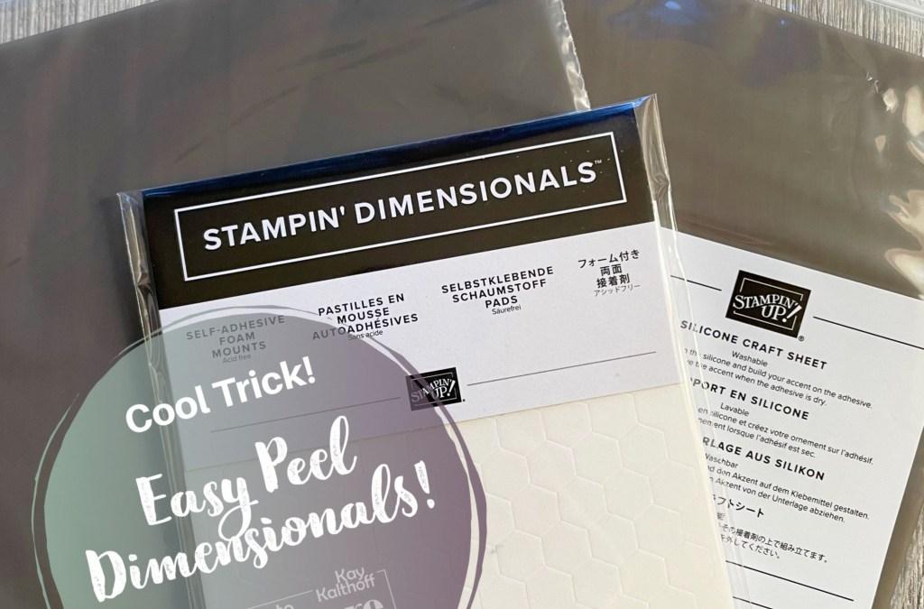 Easy Peel Stampin' Dimensionals Trick!