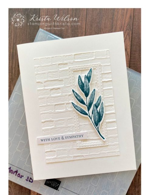 The second layer features the Brick and Mortor 3D embossing folder