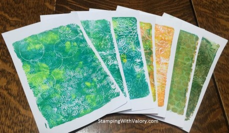 ...and my first Gelli Plate prints!