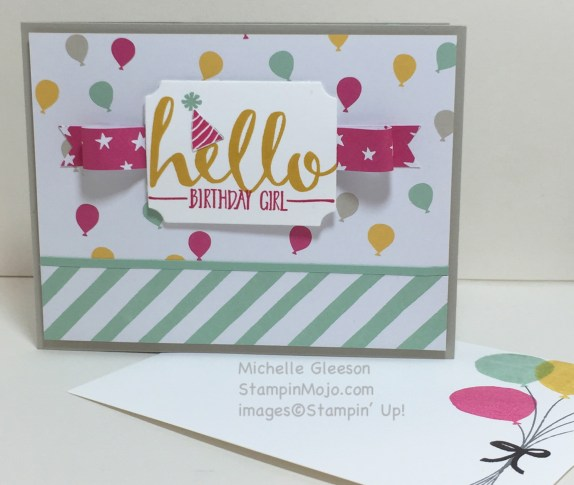 Birthday card, StampinMojo, Hello stamp set, Sale-A-Bration