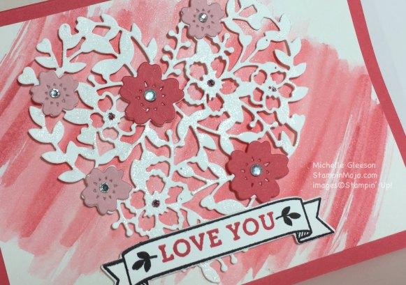 StampinMojo, Watercolor Wash Blooming Heart