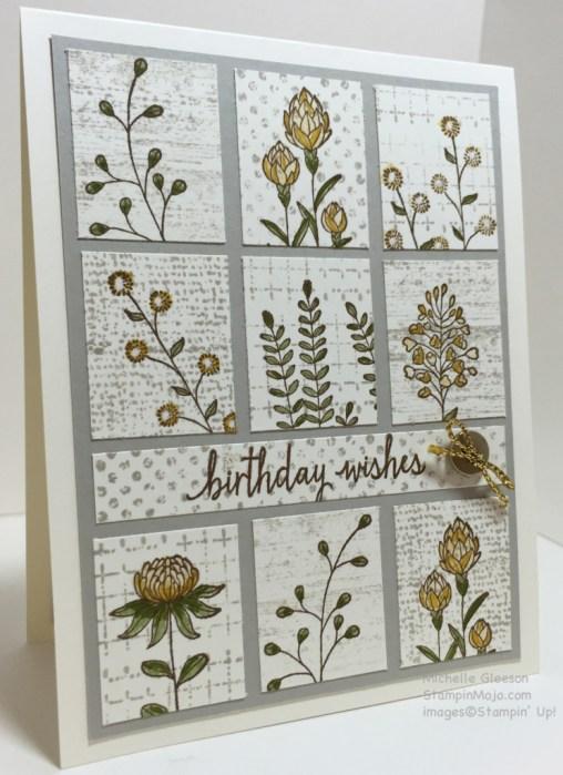 Flowering Fields, Birthday, StampinMojo