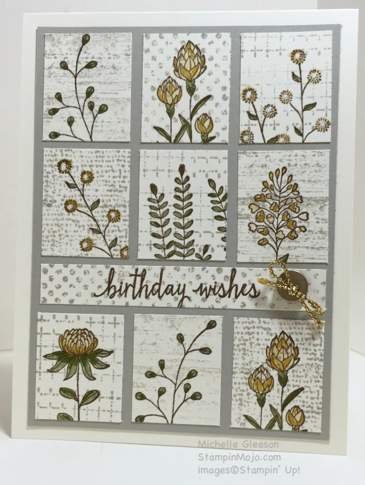 Flowering Fields, Birthday Wishes, StampinMojo