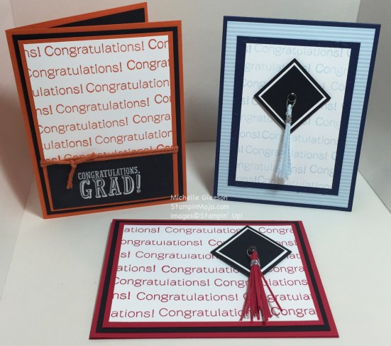 StampinMojo, Pals Blog Hop, Graduation cards