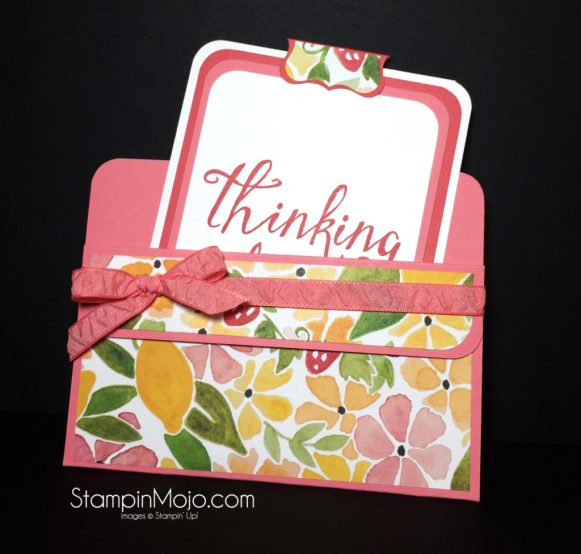 Stampin Up, Fruit Stand DSP, Fancy Fold idea -Michelle Gleeson, SU